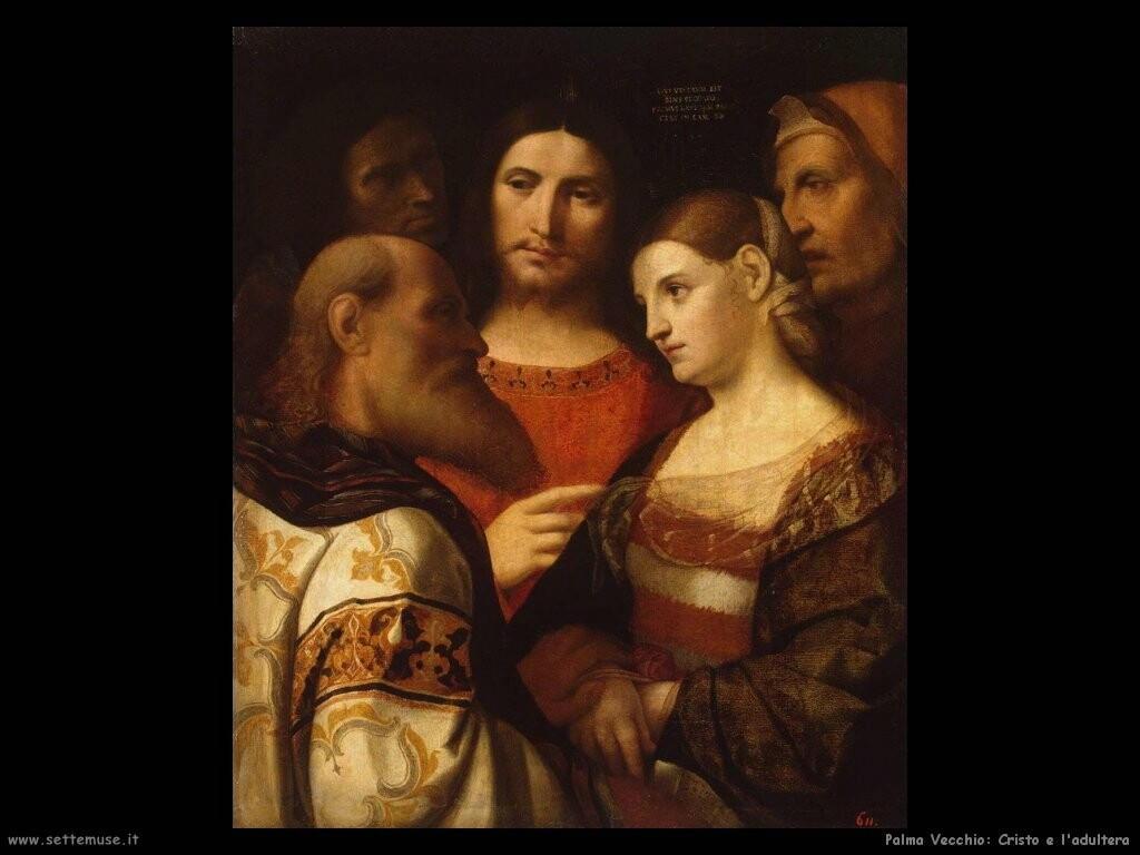 palma vecchio Cristo e l'adultera