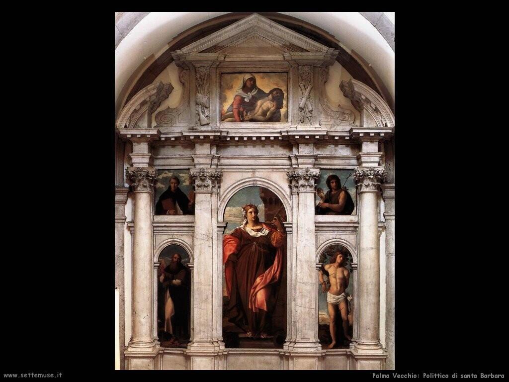 palma vecchio  Polittico di santa Barbara