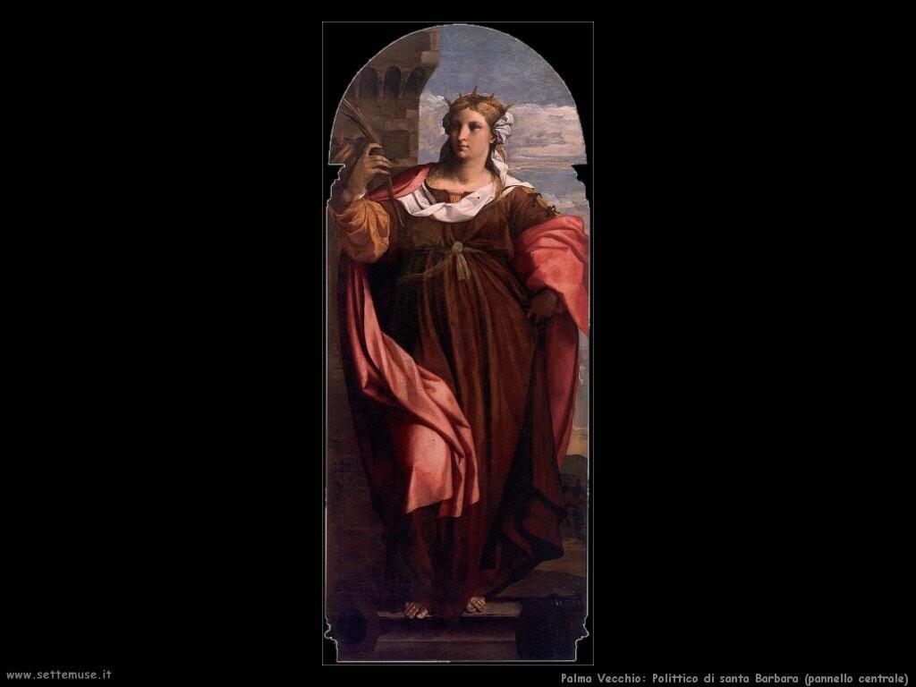 palma vecchio Polittico di santa Barbara, pannello centrale