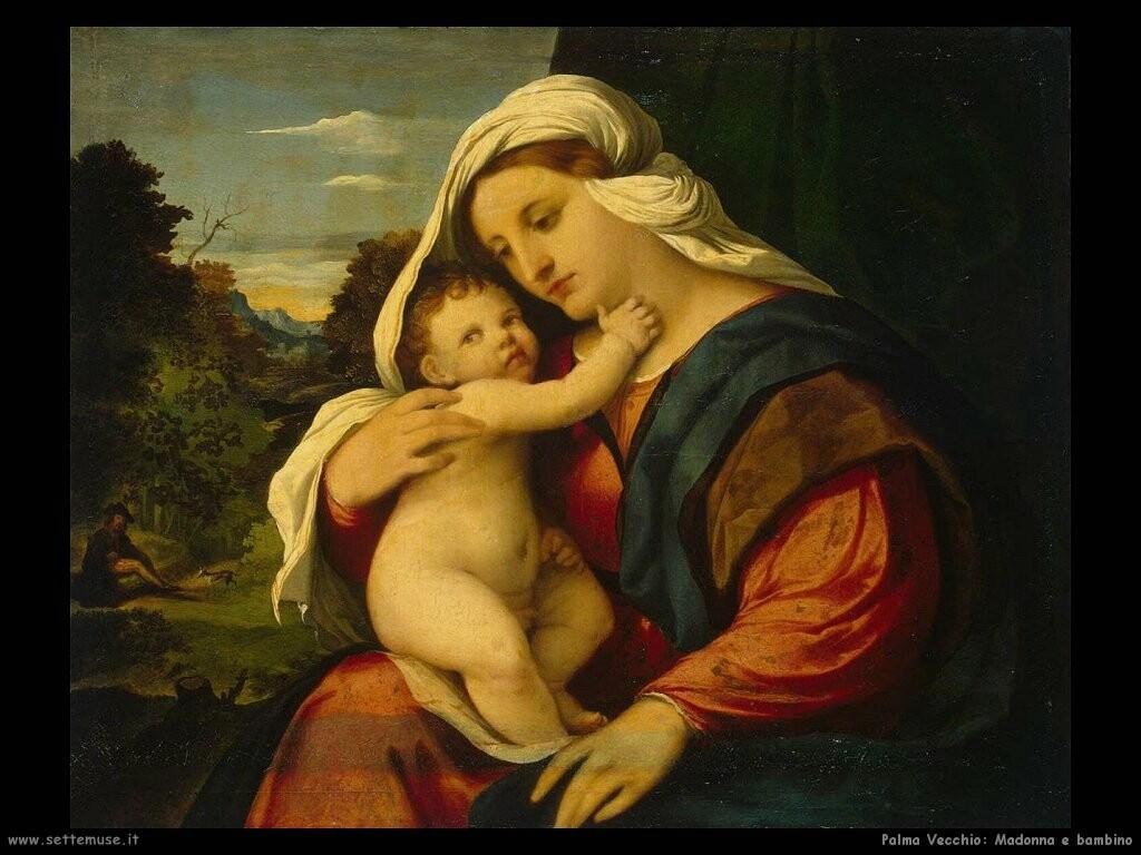 palma vecchio Madonna con bambino