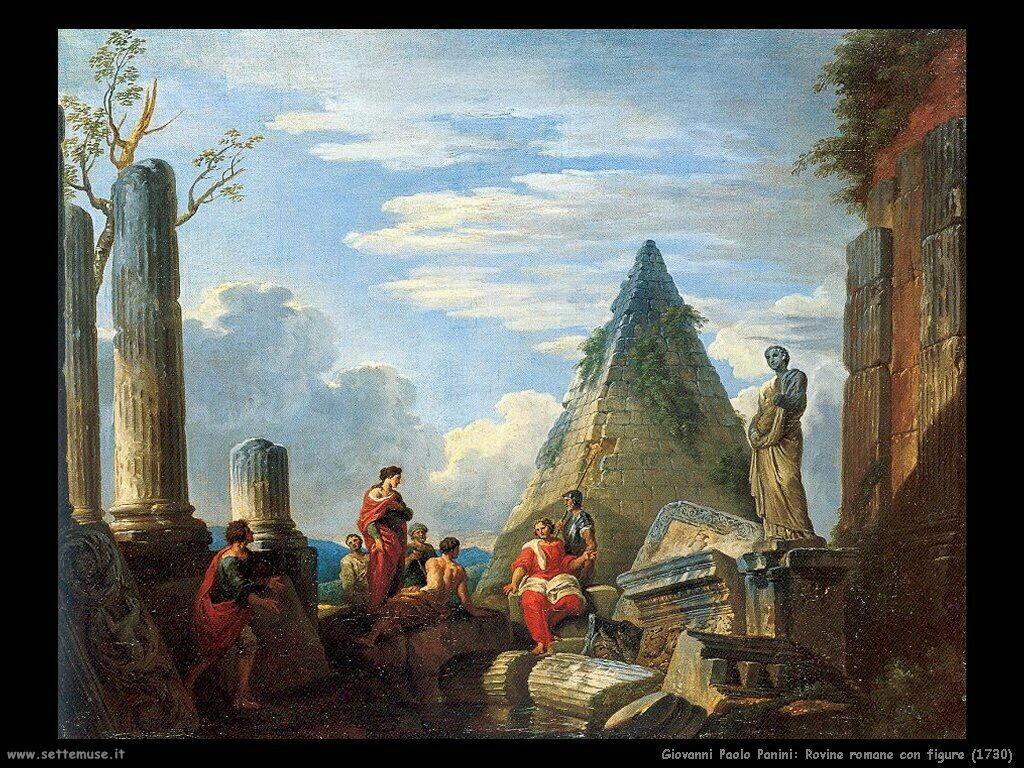 giovanni paolo pannini Rovine romane con figure (1739)