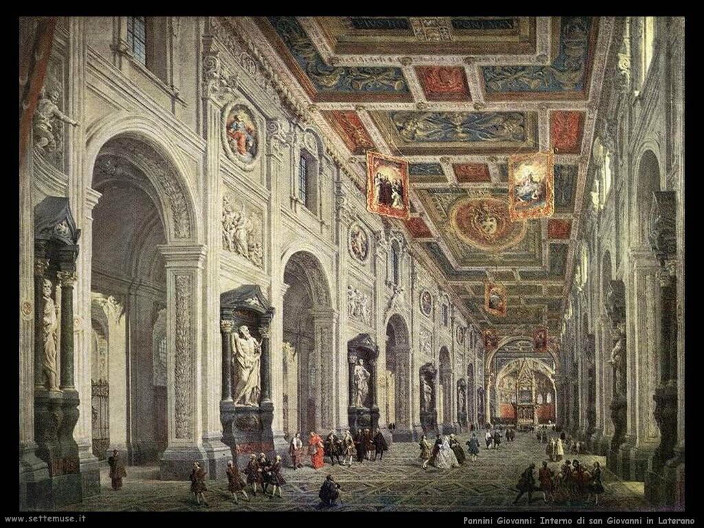 pannini giovanni paolo  Interno di san Giovanni in Laterano