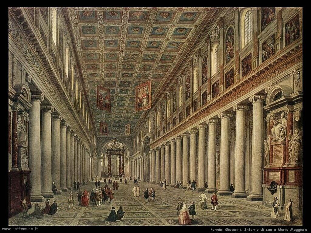 pannini giovanni paolo   Interno di santa Maria Maggiore