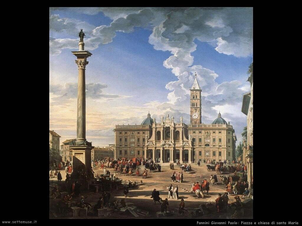 pannini giovanni paolo Piazza e chiesa di santa Maria