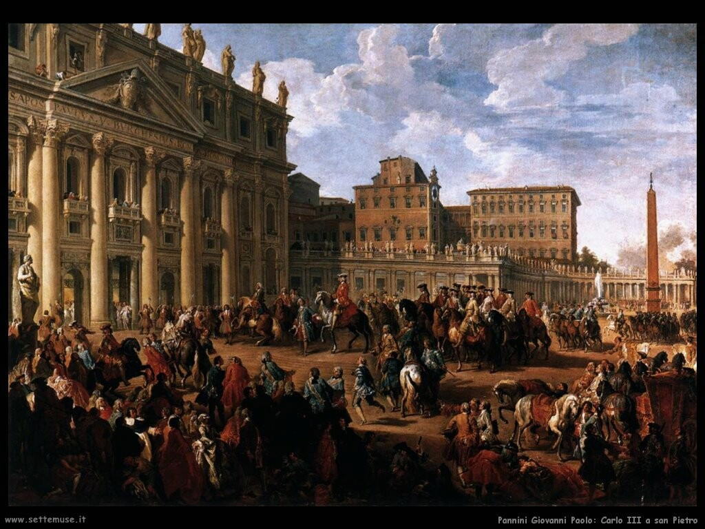 pannini giovanni paolo  Carlo III a san Pietro