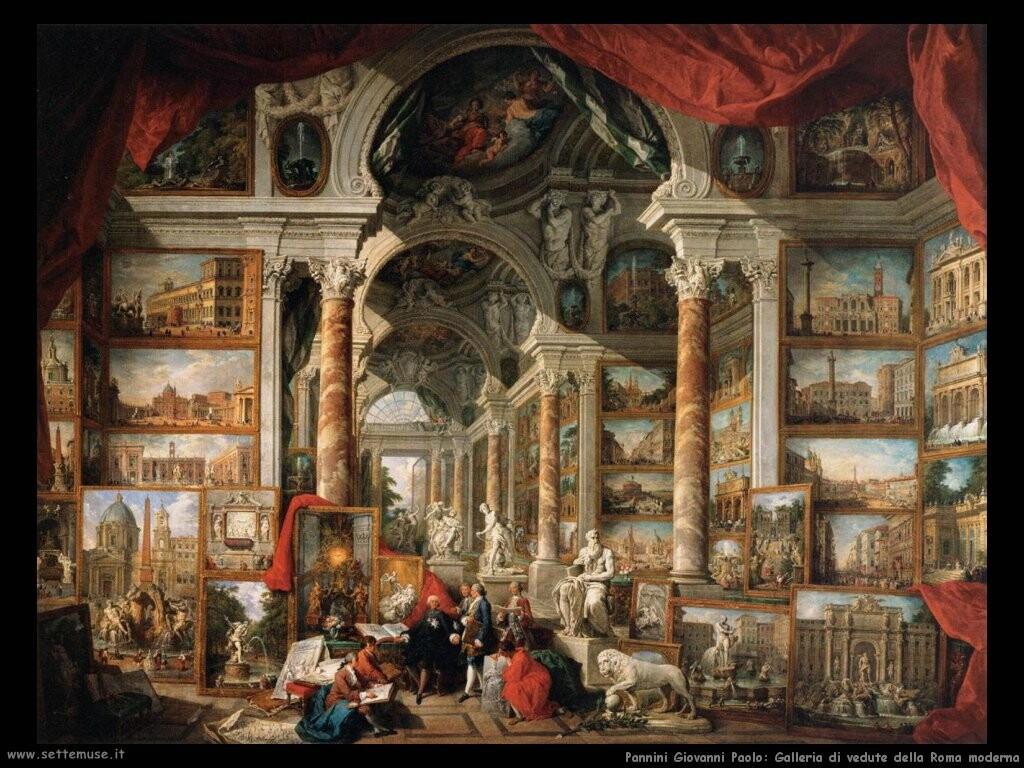 pannini giovanni paolo Galleria di panorami della Roma moderna