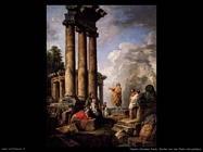pannini giovanni paolo Rovine con san Paolo in predicazione