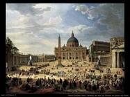 pannini giovanni paolo  Partenza del duca de Choiseul da piazza san Pietro