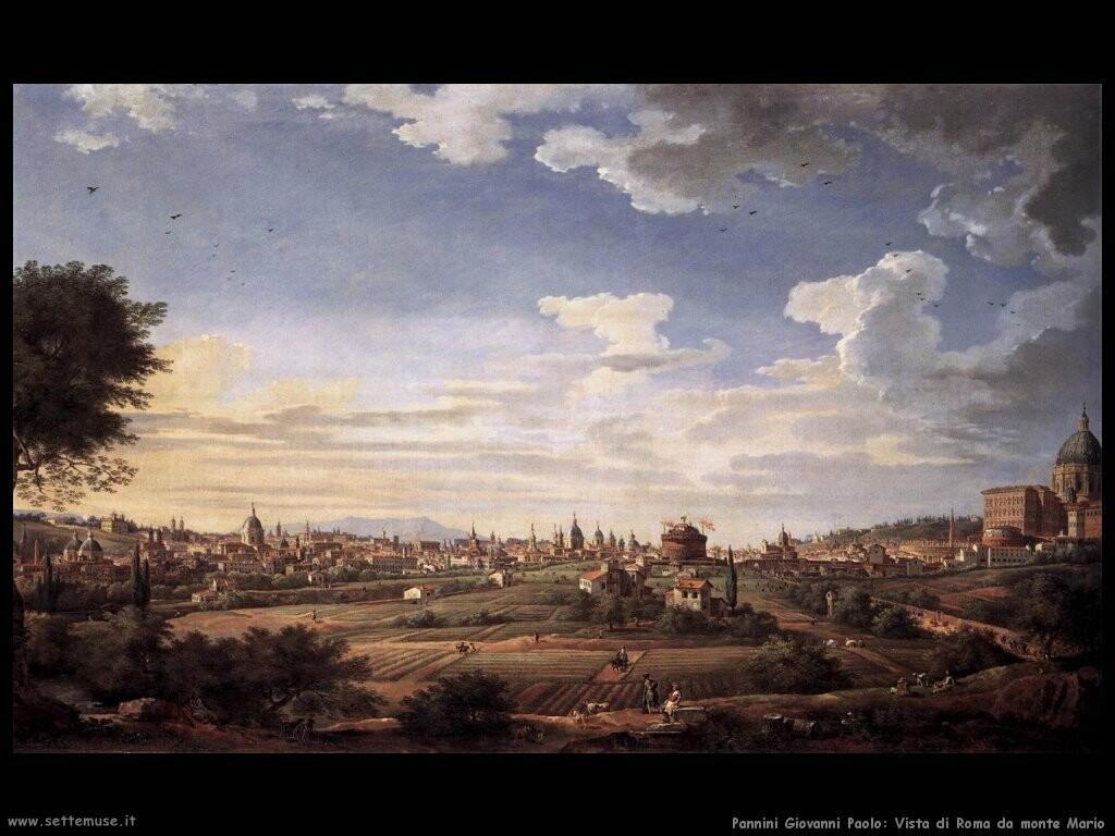 pannini giovanni paolo   Vista di Roma da Monte Mario a su est