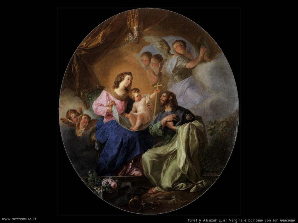 paret y alcazar Vergine e bambino con san Giacomo