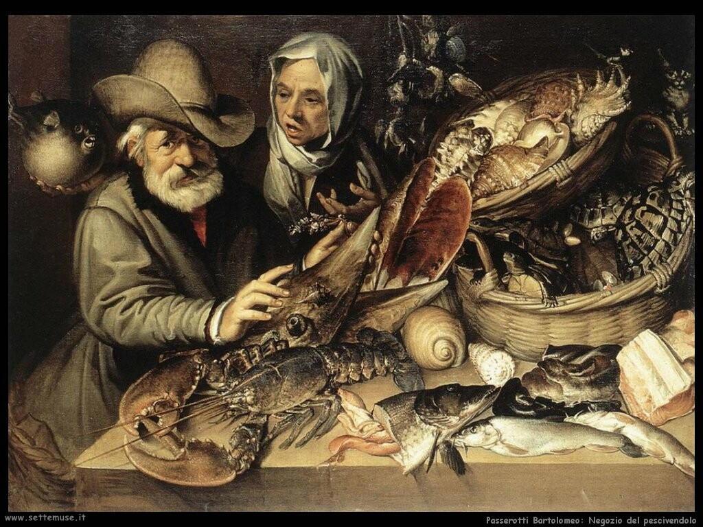 passerotti bartolomeo  La bottega del pescivendolo