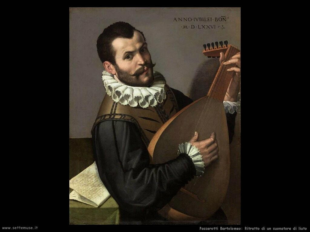 passerotti bartolomeo Ritratto di un uomo che suona il liuto