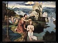 patenier joachim Battesimo di Cristo