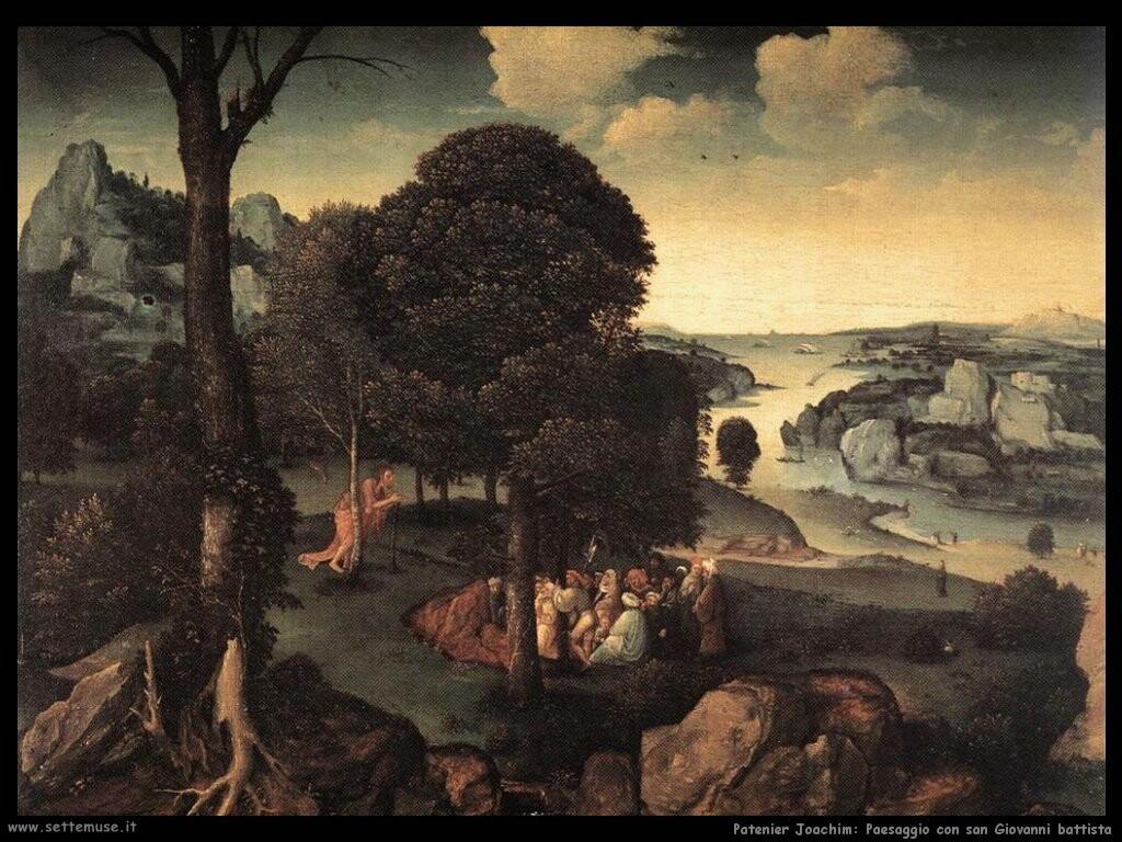 patenier joachim Paesaggio con san Giovanni il battista