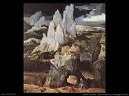 patenier joachim  San Girolamo in un paesaggio roccioso (dett)