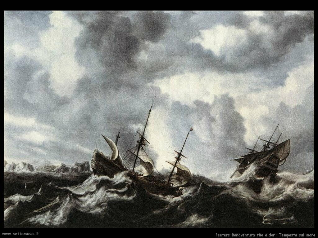 peeters bonaventura the elder   Tempesta sul mare