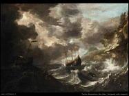 peeters bonaventura the elder  Imbarcazioni nella tempesta