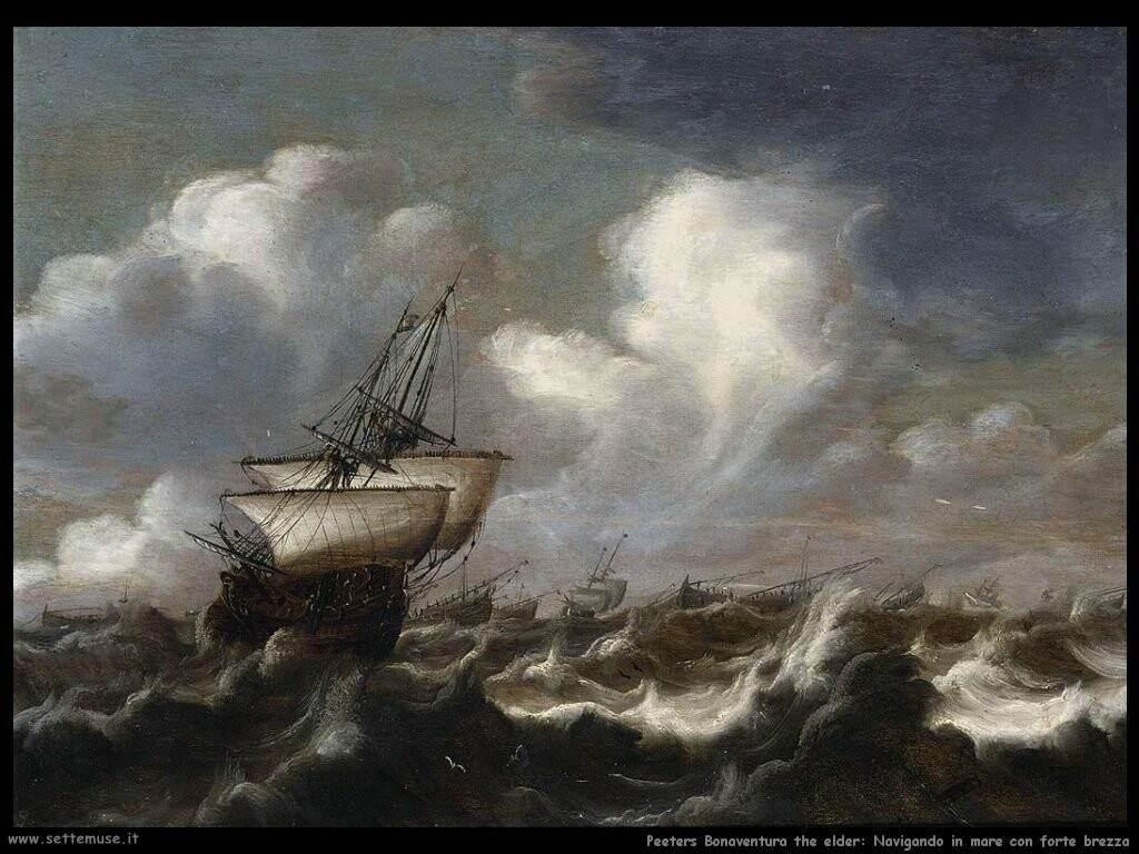 peeters bonaventura the elder Navigando in mare con forte brezza