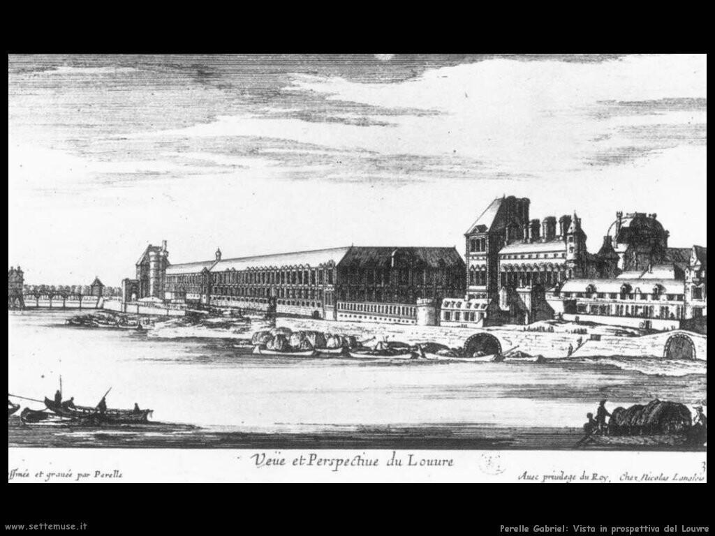 perelle gabriel Vista e prospettiva del Louvre