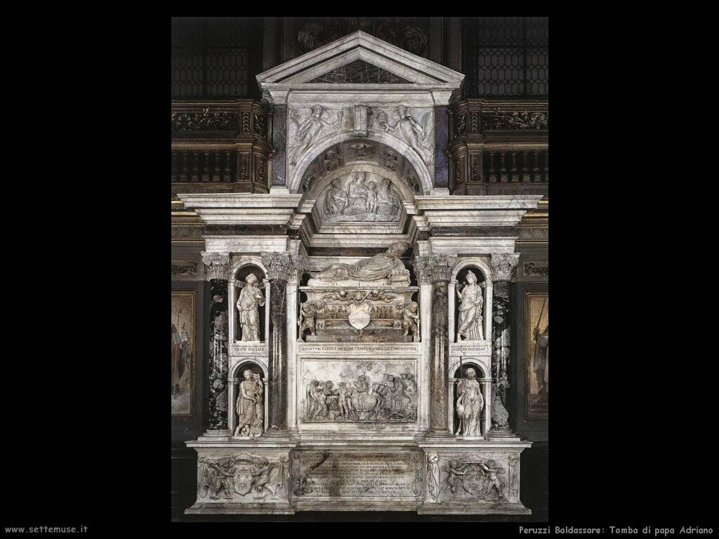 peruzzi baldassarre Tomba di papa Adriano VI