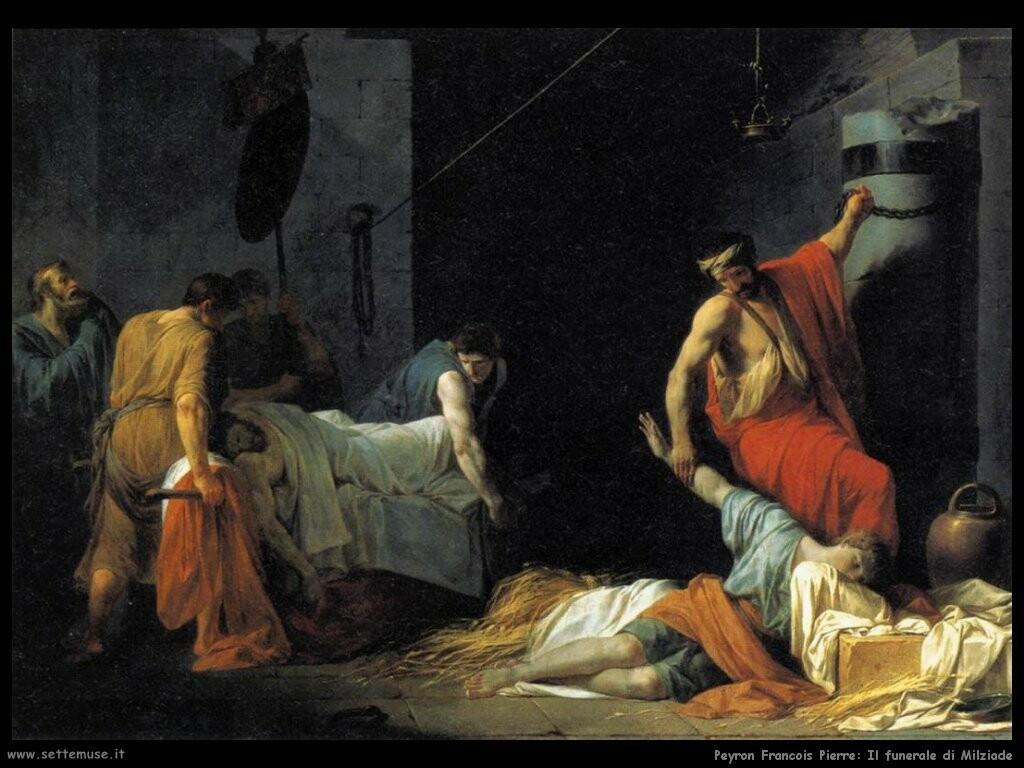 peyron jean francois pierre Il funerale di Milziade