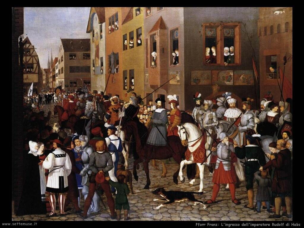 pforr franz L'ingresso dell'imperatore Rudolf di Habs