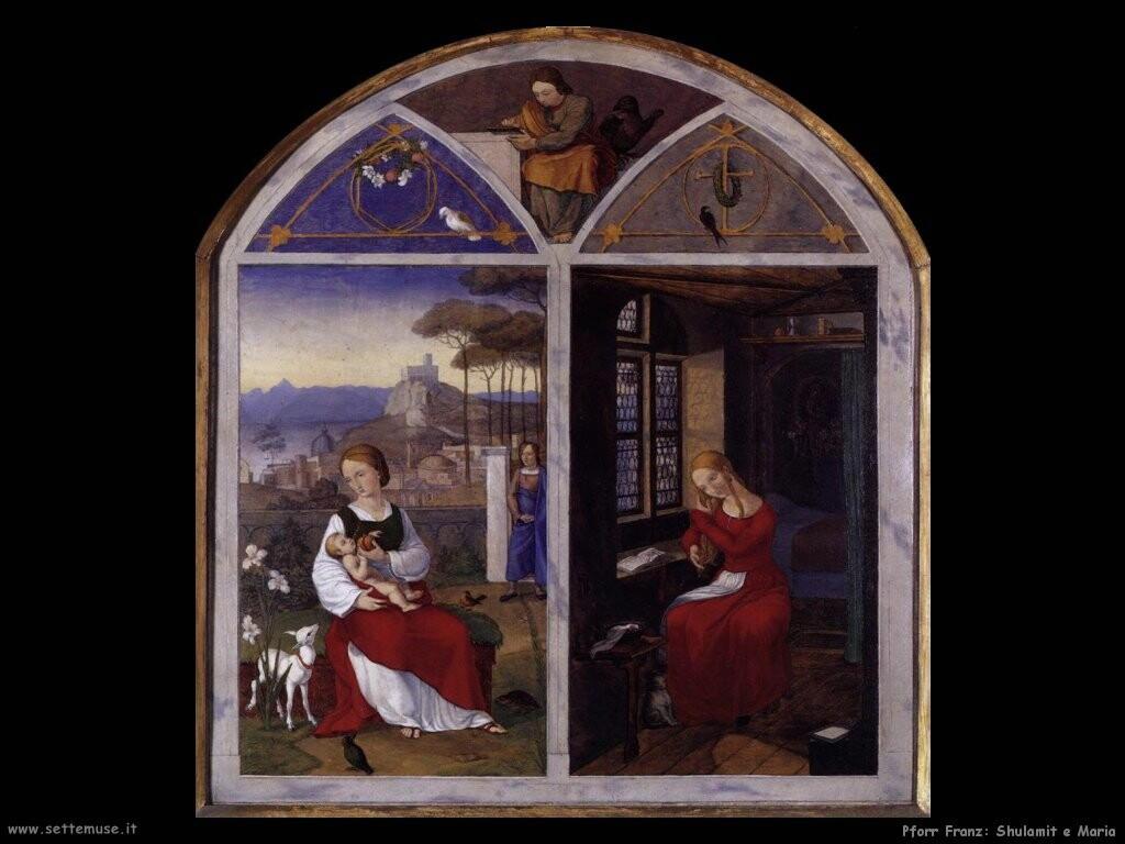 pforr franz  Shulamit e Maria