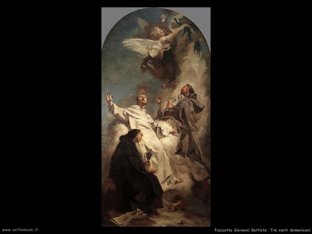 piazzetta giovanni battista   Tre santi domenicani