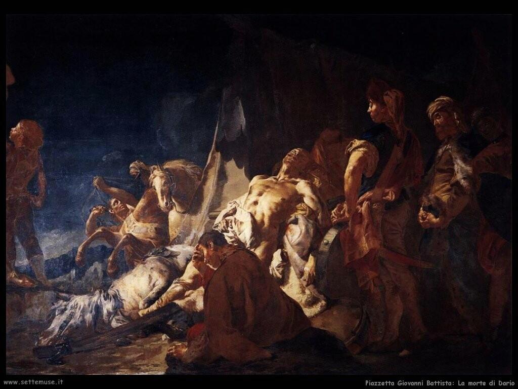 piazzetta giovanni battista  La morte di Dario