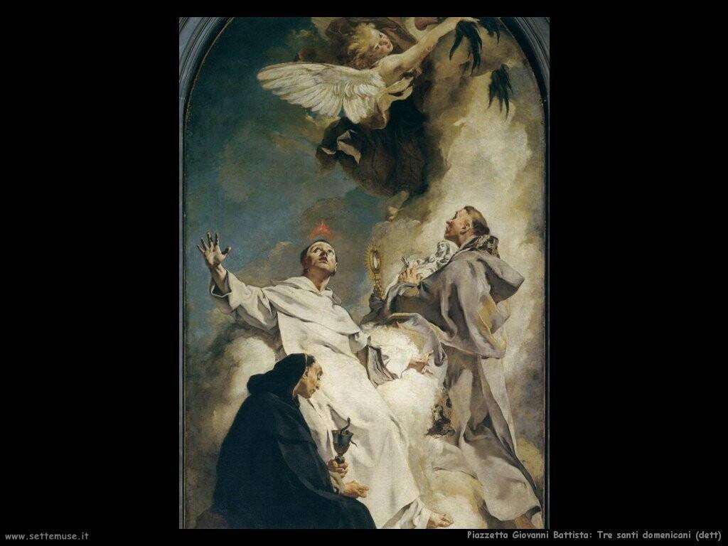 piazzetta giovanni battista  Tre santi domenicani (dett)