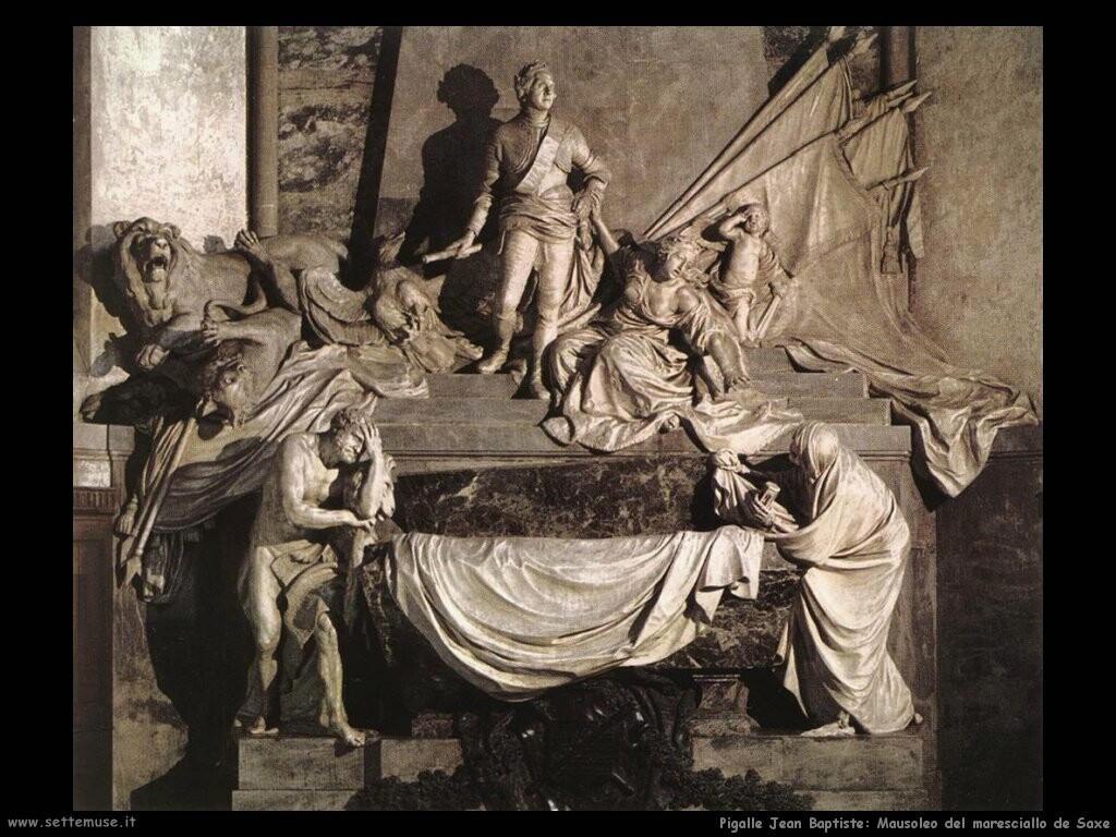pigalle jean baptiste Mausoleo del maresciallo de Saxe