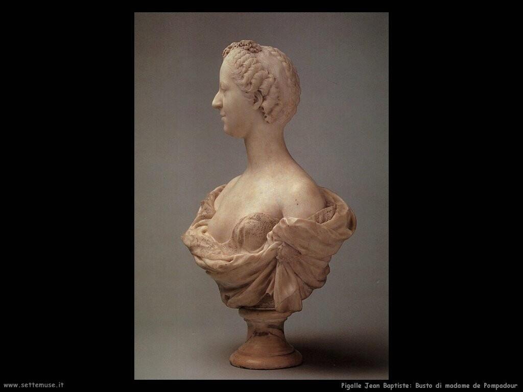 pigalle jean baptiste Busto di madame de Pompadour
