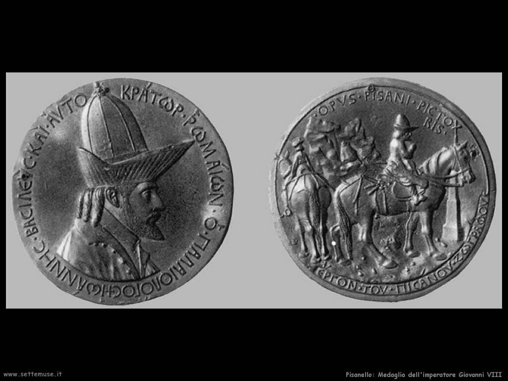 pisanello Medaglia dell'imperatore Giovanni VIII