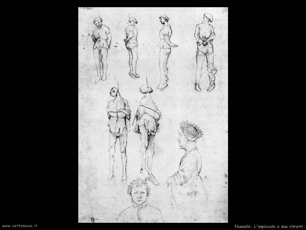 pisanello Impiccato e due ritratti
