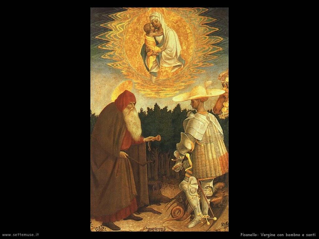pisanello La Vergine con bambino e santi
