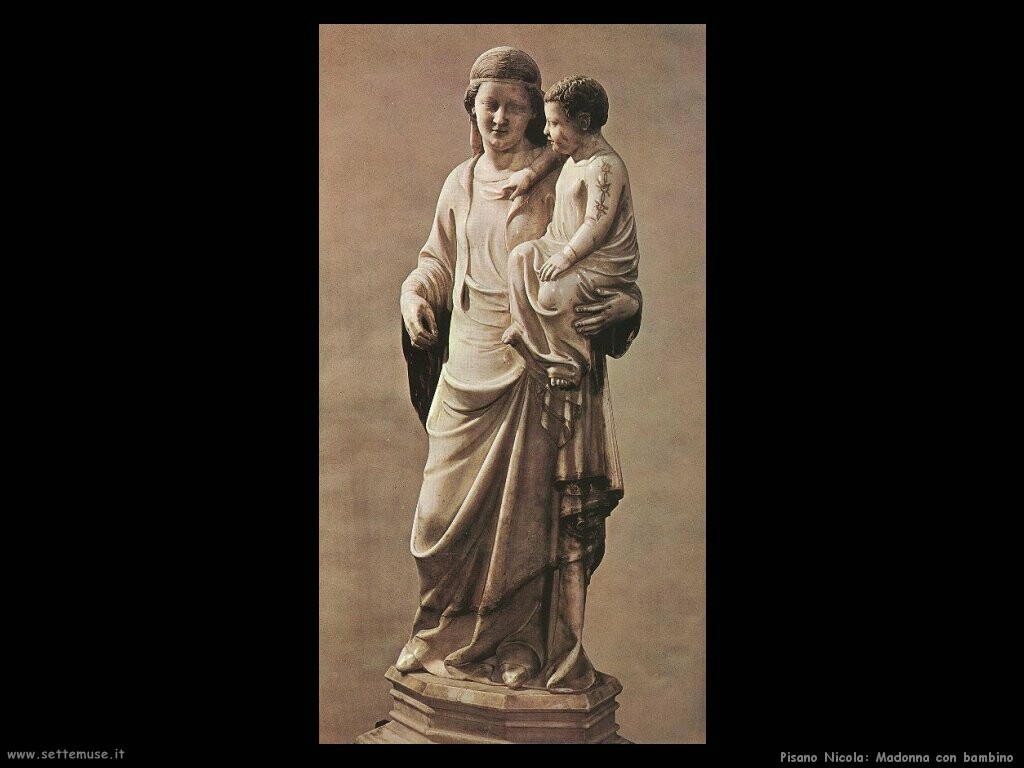 pisano nicola  Madonna con bambino