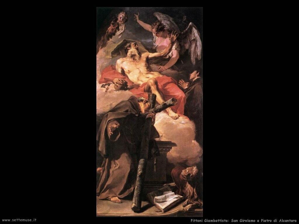 pittoni giambattista   San Girolamo a Peter di Alcantara