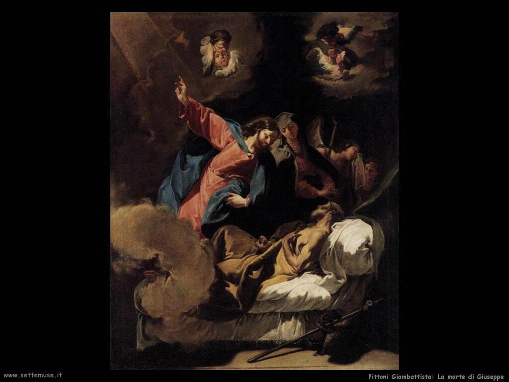 pittoni giambattista  Morte di Giuseppe