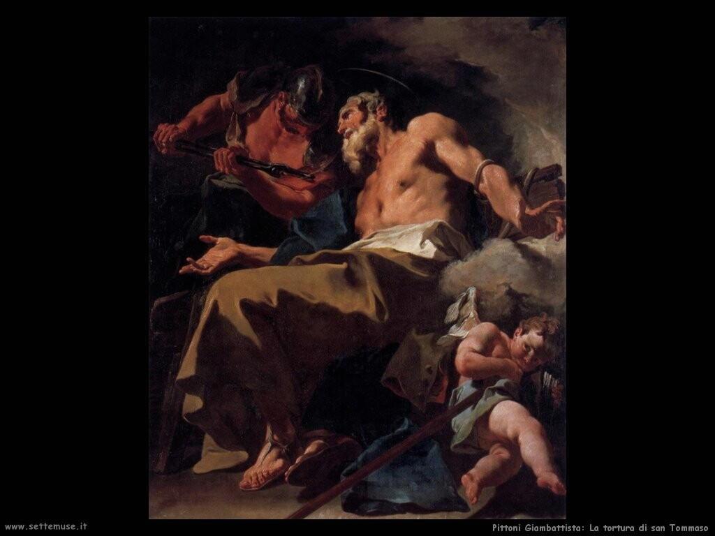 pittoni giambattista  La tortura di san Tommaso