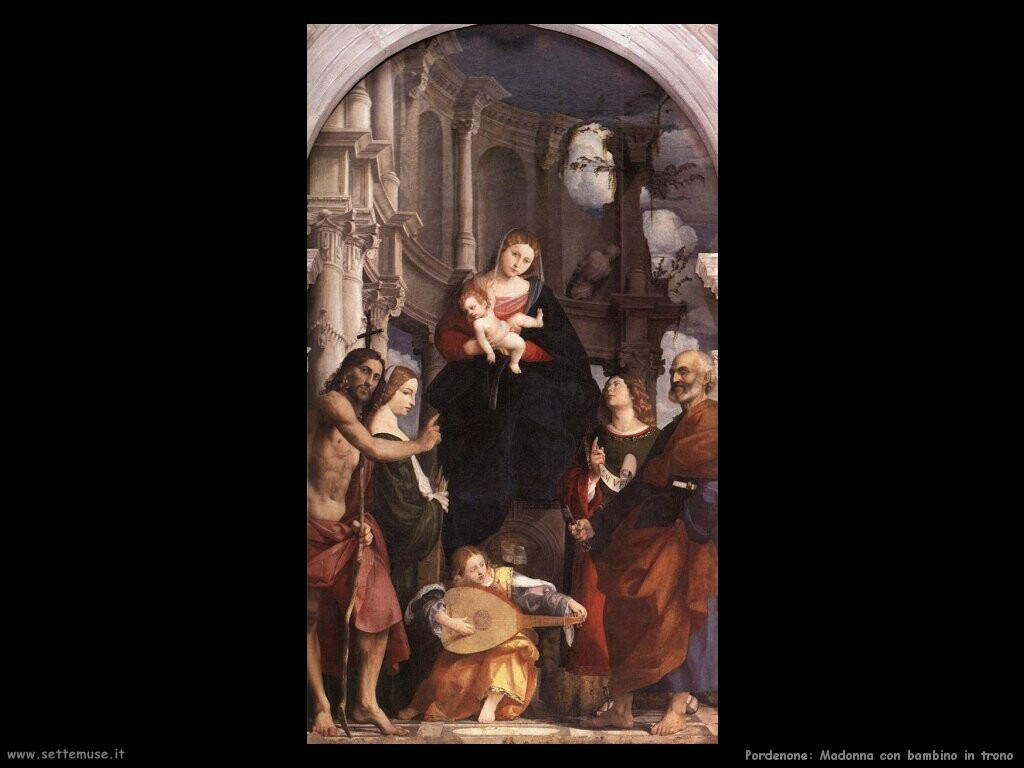 pordenone Madonna e bambino incoronati