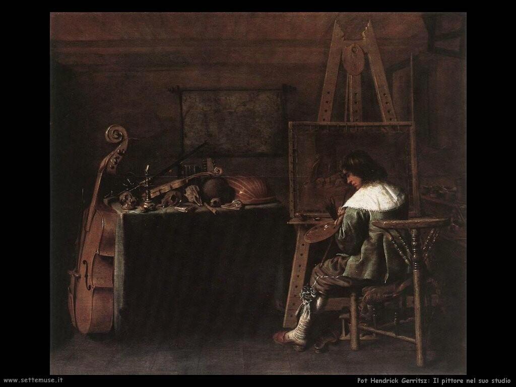 pot hendrick gerritsz Il pittore nel suo studio