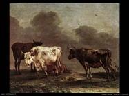 potter paulus Mucche al pascolo