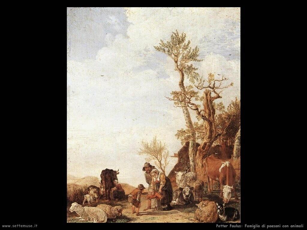 potter paulus  Famiglia paesana con animali