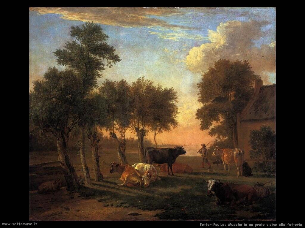 potter paulus  Mucche in un prato della fattoria