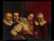 Pourbus Frans the younger Ritratto di 4 membri del Consiglio di Parigi