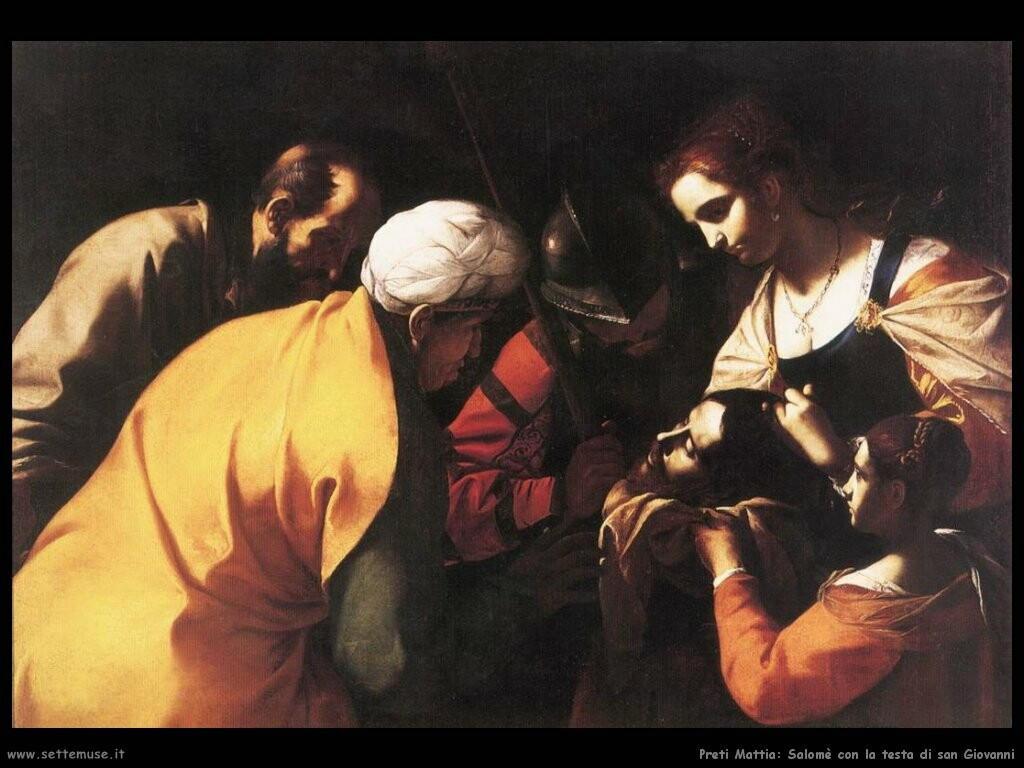 preti_mattia_Salomè con la testa di san Giovanni