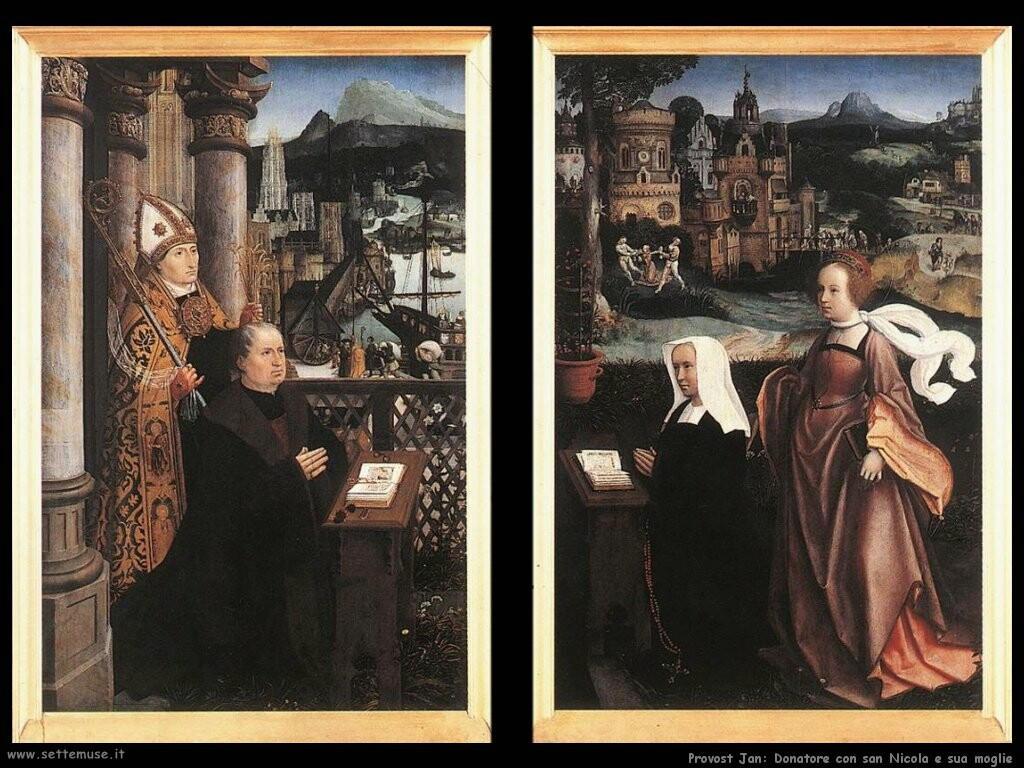 provost jan Benefattore con san Nicola e sua moglie