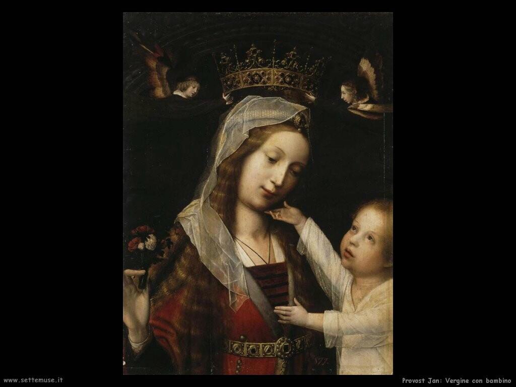 provost jan Vergine con bambino