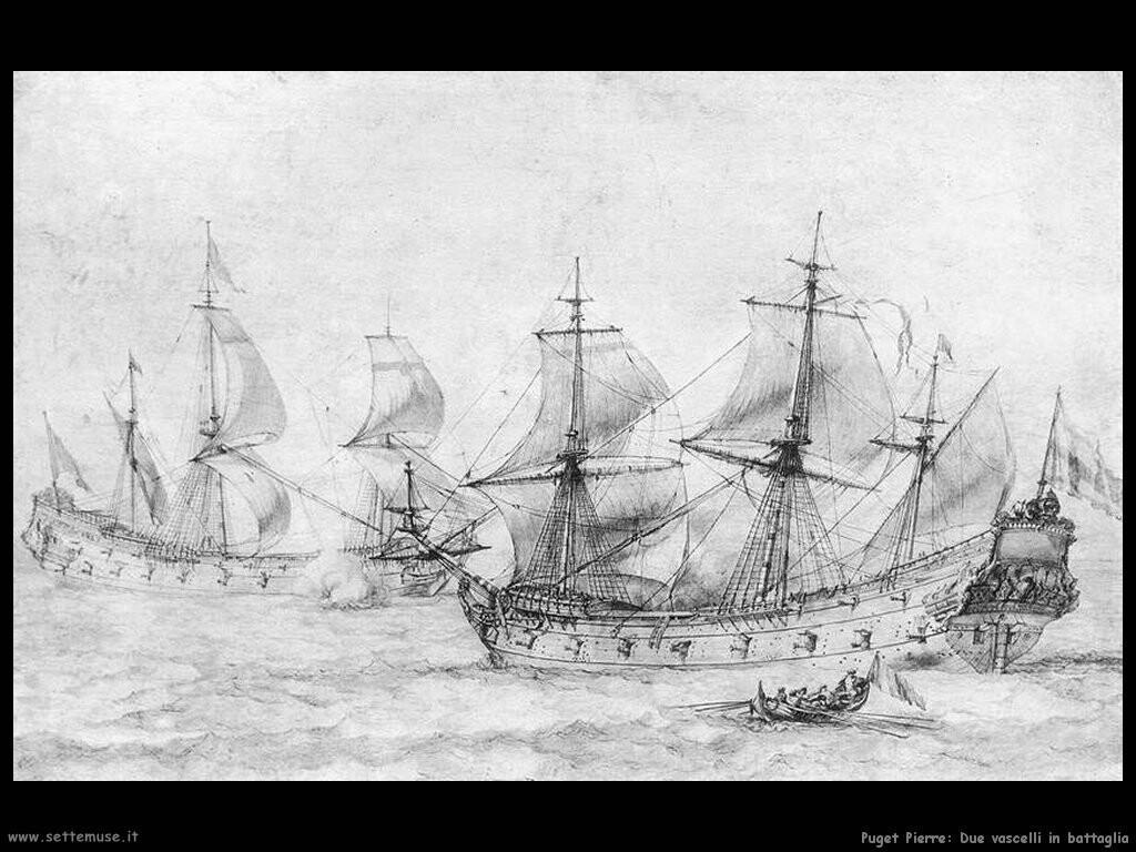 puget_pierre_Due vascelli sotto vela