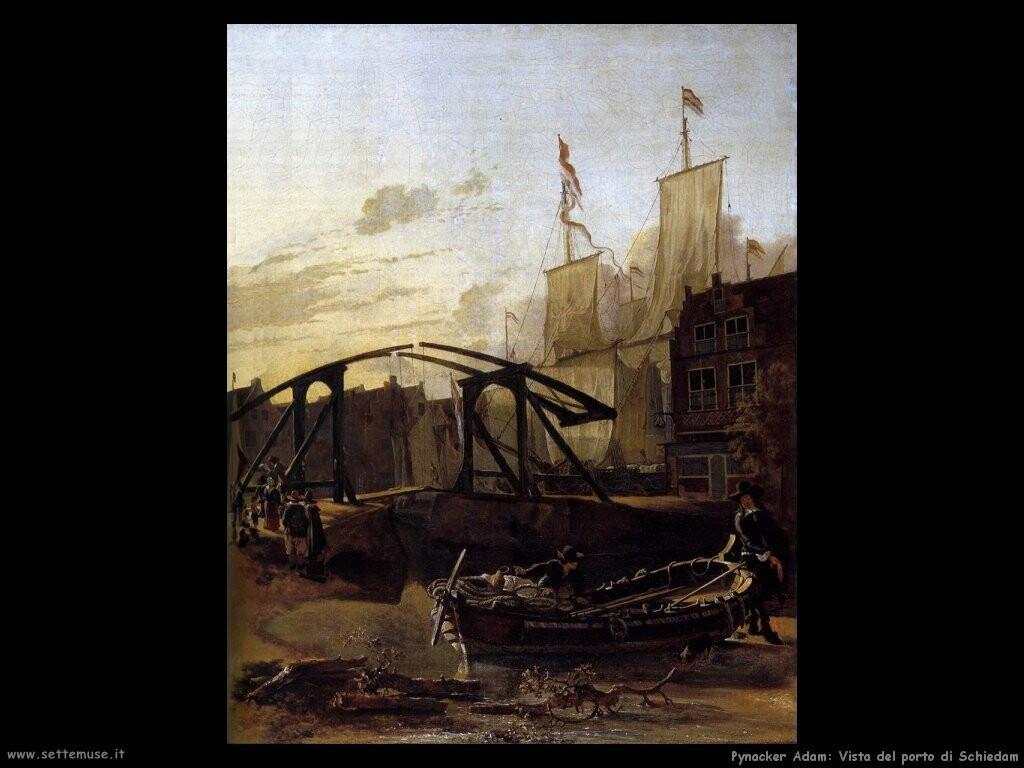 Pynacker Adam Vista del porto a Schiedam